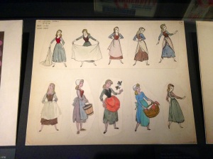 Cinderella character sketches.