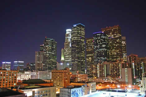 Los-Angeles-Skyline-by-Night-Wallpaper