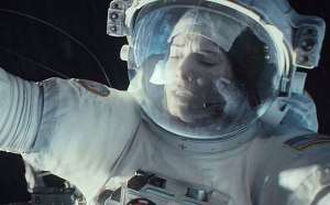 Gravity trailer -- Pictured: Sandra Bullock (Screengrab)